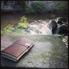 Midori Traveler's Notebook at Thiers, France.