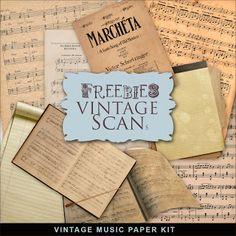 Far Far Hill: New Freebies Kit - Vintage Music Paper