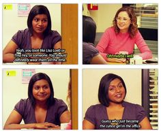 Mindy Kaling / The Office. Mindy literally is the best! Best Tv Shows, Best Shows Ever, Favorite Tv Shows, Parks N Rec, Parks And Recreation, Office Jokes, Funny Office, The Office Show, The Office Ryan