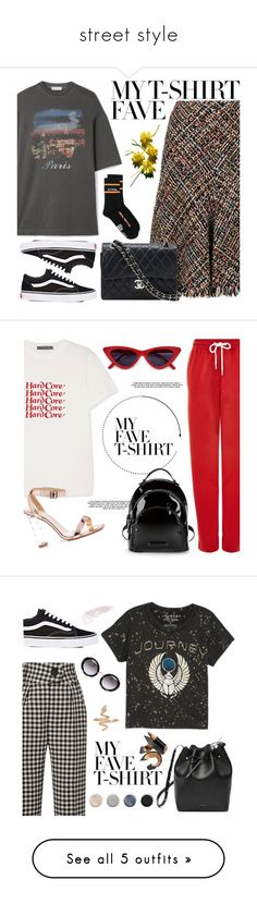 """""""street style"""" by wondrousbeing on Polyvore featuring Alexander McQueen, Balenciaga, Chanel, Vans, Heron Preston, AlexaChung, Topshop, Kendall + Kylie, Petar Petrov and Lucky Brand"""