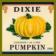 Olde America Antiques   Quilt Blocks   National Parks   Bozeman Montana : Vintage Canning Labels Hot Pads - Dixie Pumpkins