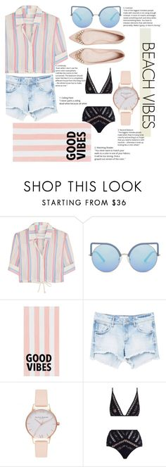"""Beach Vibes"" by panda0805 ❤ liked on Polyvore featuring Solid & Striped, Matthew Williamson, PBteen, MANGO, Olivia Burton and Zimmermann"