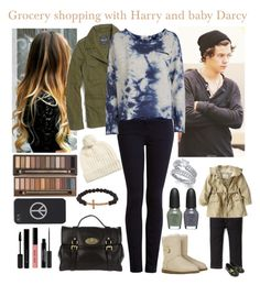 """""""*REQUEST: Grocery shopping with Harry and baby Darcy*"""" by cheerleader1993 ❤ liked on Polyvore featuring Madewell, Current/Elliott, Object Collectors Item, Zara, Little Marc Jacobs, UGG Australia, Oasis, Mulberry, Urban Decay and Jimmy Crystal"""