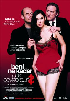 After winning the lottery, François goes to a bar in Pigalle and offers one hundred thousand Euros per month to a prostitute named Daniela to live with him as his wife until his money runs out. Monica Bellucci, Catherine Deneuve Young, Ufc, Logo Coca, Bertrand Blier, Movie Collage, Romantic Comedy Movies, She's A Lady, Movie Posters