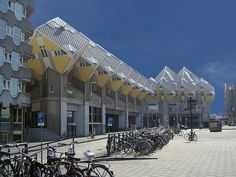 Rotterdam Cube Houses With Large Of Bicycle Parking Area