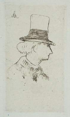 Edouard Manet, Portrait of Charles Baudelaire in profile, 1862-67