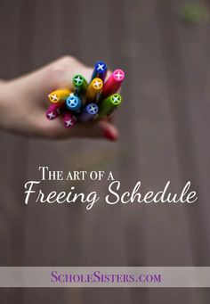 Creating a homeschool schedule that sets you free.