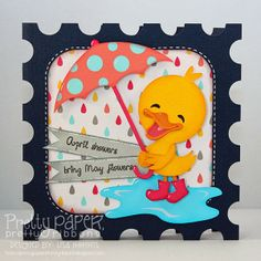 Created Using Pretty Paper, Pretty Ribbons Little Duckling and Rainy Day Critters Cutting Files and My Craft Spot stamps