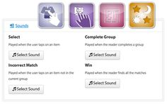 You can now add your own cool sound effects to these great iBooks Author widgets Maze, Drag and Drop, Match Game and Reveal.