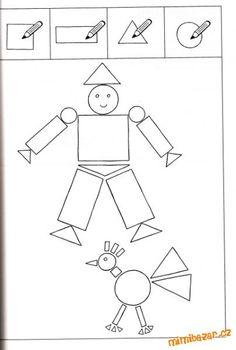 Reconna tre les formes g om triques en maternelle en - Coloriage des formes geometriques ...