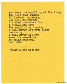 Typewriter Series #967 by Tyler Knott Gregson *It's official, my book, Chasers of the Light, is out! You can order it through Amazon, Barnes and Noble, IndieBound , Books-A-Million , Paper Source or Anthropologie *