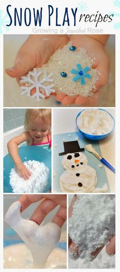An amazing collection of snow play recipes from Growing a Jeweled Rose- so many fun ideas for Winter Play!
