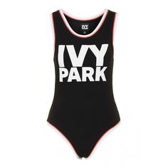 Sleeveless Logo Body by Ivy Park ❤ liked on Polyvore featuring bodysuits and tops