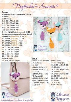 Amigurumi Little Birds Free Crochet Pattern – Crochet. Crochet Keychain Pattern, Crochet Bunny Pattern, Crochet Animal Patterns, Crochet Fox, Crochet Patterns Amigurumi, Diy Crochet, Knitting Patterns, Crochet Baby Toys, Crochet Dolls