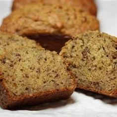 "Banana Banana Bread - Recipe by: Shelley Albeluhn ""Why compromise the banana flavor? This banana bread is moist and delicious with loads of banana flavor! Friends and family love my recipe and say it's by far the best! It's wonderful toasted! My Recipes, Cooking Recipes, Favorite Recipes, Sweet Recipes, Cake Recipes, No Bake Desserts, Dessert Recipes, Coconut Dessert, Gateaux Cake"