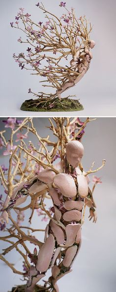 Assembled Figurines by Garret Kane Appear to Burst with the Seasons sculpture Wow Art, Sculpture Art, Freedom Sculpture, Surrealism Sculpture, Sculpture Projects, Sculpture Ideas, Metal Sculptures, Modern Sculpture, Abstract Sculpture
