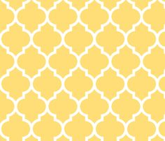 moroccan quatrefoil lattice in lemon yellow fabric by spacefem on Spoonflower ~ inspiration for Lilli's top design...