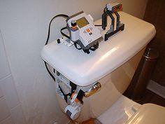 lego-based automatic toilet flusher
