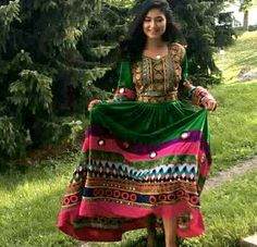 #afghan #green #dress #jewelry #outfit More Afghan Clothes, Afghan Dresses, New Dress, Dress Up, Afghan Girl, Girl Photo Poses, Western Outfits, Ethnic Fashion, Pakistani Dresses