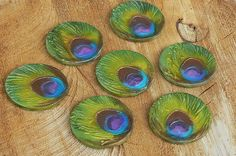 Peacock Beads Rounds 3 by Aquariart, via Flickr