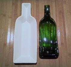 STONEWARE Bordeaux single condiment wine bottle slumping mold. $22.50, via Etsy.