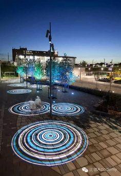 Ishoj Station by AF Lighting : illumni – The World Of Creative Lighting Design Exterior Lighting, Outdoor Lighting, Lighting Ideas, Water Lighting, Light Art Installation, Art Installations, Art Public, Landscape Lighting Design, Outdoor Landscaping
