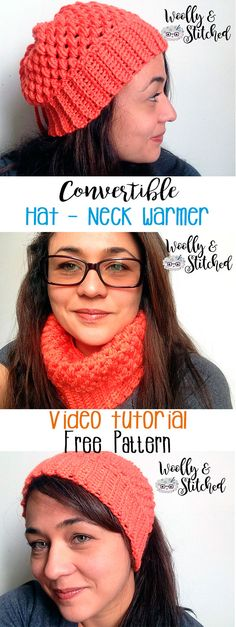 FREE PATTERN! Convertible Hat - Neck warmer.