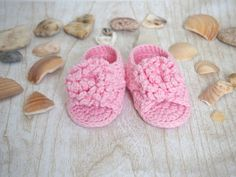 Crochet baby flip flops Crochet baby sandals by KnitCafee