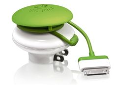 Green mushroom charger that turns itself off after charging your device. Just kick it to turn it back on! Kinda cool.