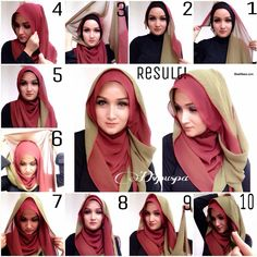 Beautiful Double Layer Hijab Tutorial - Style Hunt World | Makeup Tutorials | Home Remedies | Eyeliner Tips
