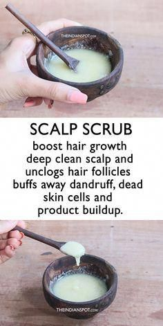 Boost Hair Growth With this Scalp Scrub beauty care DIY H. - Boost Hair Growth With this Scalp Scrub beauty care DIY Hair Growth Tonic {a - Grow Long Hair, Grow Hair, Scalp Scrub, Hair Mask For Growth, Products For Hair Growth, Fast Hair Growth, Curly Hair Growth, Hair Growth Oil, Oil For Hair Loss
