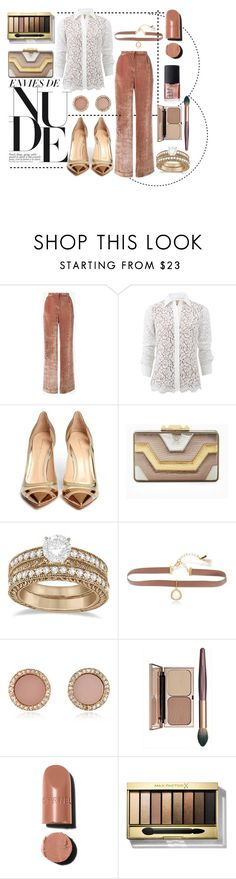 """Neutral Look"" by love-blair-serena ❤ liked on Polyvore featuring Alberta Ferretti, Michael Kors, Gianvito Rossi, BCBGMAXAZRIA, Allurez, Lonna & Lilly, Max Factor and NARS Cosmetics"