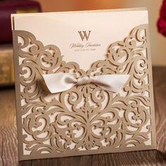 Elegante estilo europeo Vintage flores de oro recorte Lacer boda invitaciones tarjetas personalizadas impresión envío 50 unids en Artículos para Fiestas de Casa y Jardín en AliExpress.com   Alibaba Group