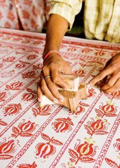 Block printing, India