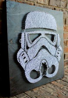 Storm Trooper casco cadena arte por CClarkeDesigns en Etsy