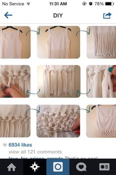 cute diy crop top tutorial. great for summer concerts with high waisted shorts!