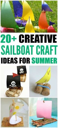 20 Sailboat Crafts For Summer. Fun ideas for summer crafts!