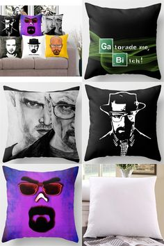 [Visit to Buy] Polyester Cushion Cover Breaking Bad Pillowcase Home Decorative Euro Pillow Cover Sofa Chair Throw Pillow #Advertisement