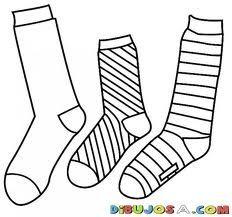 dibujos calcetines para colorear - Buscar con Google