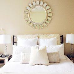 Dreamy bedroom inspiration by @Irina Avrutova Bond | BondGirlGlam.com, featuring our Devon Mirror