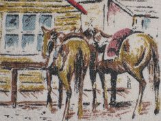 Western+Pillow+Wild+Old+West+Decor+Horse+Cowboy+by+PiecesOfOlde,+$24.00