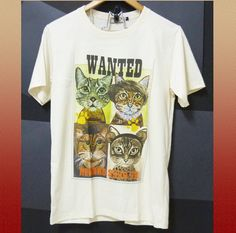Sale Cat poster shirt whimsical animal shirt off by WorkoutShirts