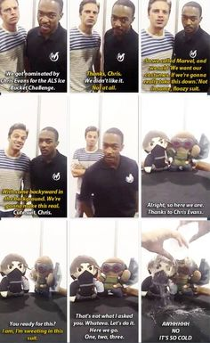 Sebastian Stan and Anthony Mackie are two of the funniest actors in the MCU. They portray the roles of Falcon and Winter Soldier in the Marvel movies, respectively. Funny Marvel Memes, Dc Memes, Avengers Memes, Marvel Avengers, Marvel Actors, Marvel Movies, Sebastian Stan, Marvel Universe, Fangirl