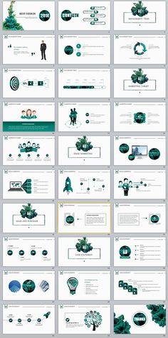 30+ Best Green white Design PowerPoint templates
