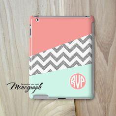 IPad Air Case Monogram iPad Mini Case Coral Pastel by monograph