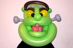 Balloon Frankenstein mask