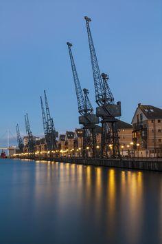 Royal Victoria Dock- london uk- by Andrejs Fjodorovs Old London, London City, Beautiful London, World Cities, River Thames, Barbershop, London England, Art Pictures, Paris Skyline