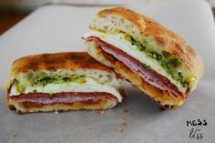 Toasted Italian Sandwich - The pesto and sun-dried tomatoes are a perfect complement to the authentic Italian meats. #sponsored #OldWorldStyleOM