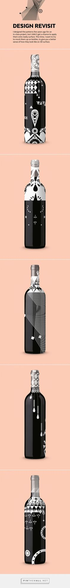 Design Revisit: Liquor Bottle Patterns on Behance…