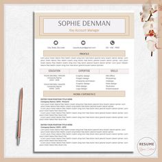 Career Resume Two Page Resume Resume Template Resume Download